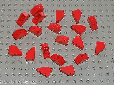 Set 7419 4564 6349 7938 10 x brique pour toit LEGO Red slope bricks ref 3040b