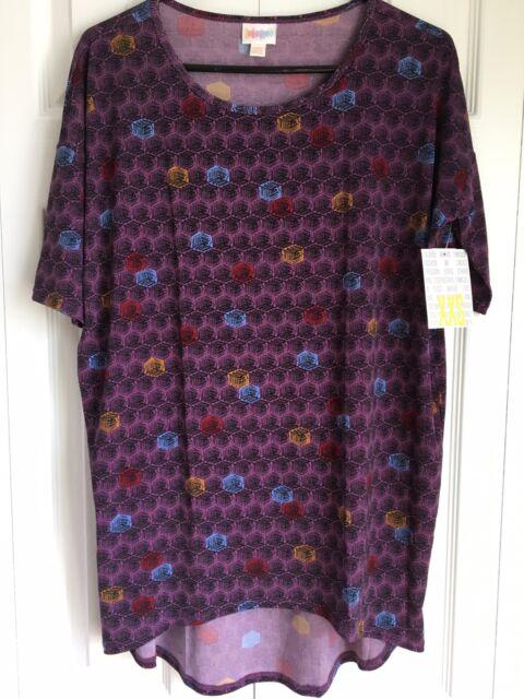05aa3bf46a37e Lularoe irma squares black purple boxes for leggings tunic top blouse shirt  jpg 480x640 Purple top