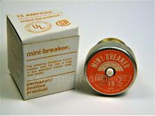 Mini Breaker Screw In Fuse Type Resettable Circuit Breaker 15amp New
