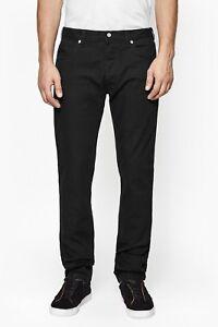 Nuevo-Para-Hombres-Peviani-Delgado-Calce-Recto-Regular-Pantalones-Chino-Pantalones-Informales-Negro