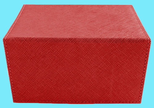 DEX PROTECTION CREATION MEDIUM Size RED 100 DECK BOX Card Storage Dice Case mtg
