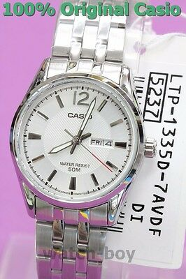 LTP-1335D-7A White New Casio Watch Women'S Day Date 50-Meter Water Resistance