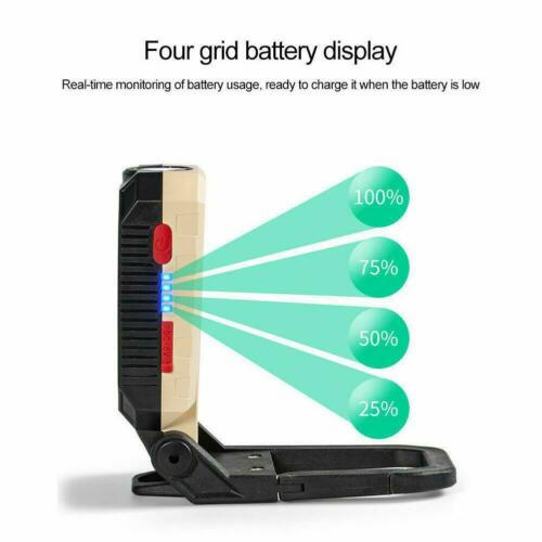 Magnetic LED Work Light Lamp Torch USB Rechargeable Folding 2020 NEW