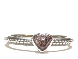 Pink Topaz sterling silver ring size 5.5