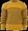Relco-Herren-Mod-gestreift-Marine-senffarben-gelb-Guernsey-Strickpullover-Anker-Knoepfe Indexbild 1