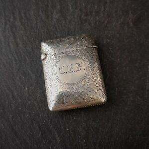 Victorian-silver-vesta-case-leaf-engraved