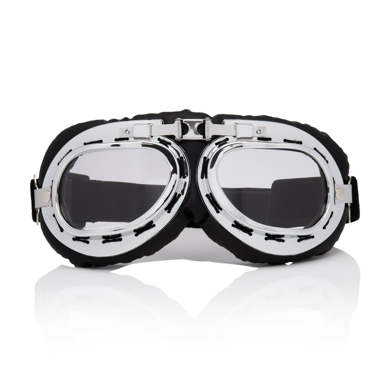 1756ac4758 Silver + Clear Flying Motorcycle Scooter Goggles Retro Vintage Steampunk  Glasses