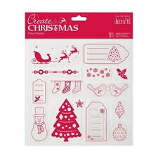 PAPERMANIA CREATE MERRY CHRISTMAS TAGS STAMPS SNOWFLAKES SNOWMAN TREE SLEIGH