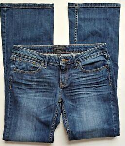 Banana-Republic-Bootcut-Jeans-Size-28-6R-Womens-Dark-Wash-Stretch-Denim-Whiskers