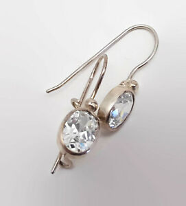 Sterling-Silver-Bezel-Crystal-Earrings