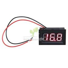 "0.56"" LCD DC 3.2-30V Red LED Panel Meter Digital Display Voltmeter with 2 wire"