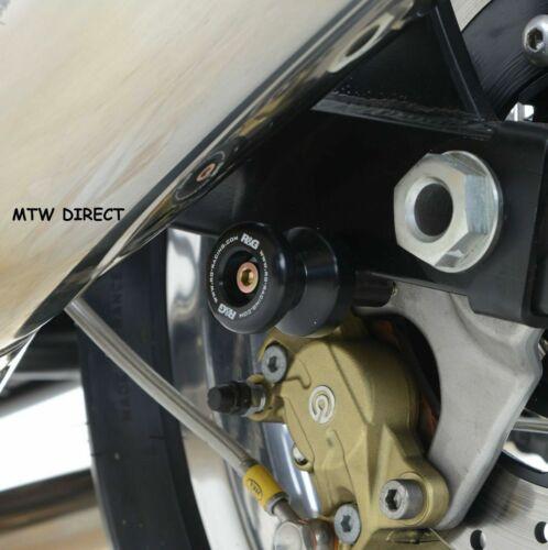 R/&G RACING BLACK COTTON REELS BOBBINS  APRILIA RSV4 factory 2012 MODEL