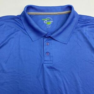 Concepts-Performance-Polo-Shirt-Men-039-s-Size-2XL-XXL-Short-Sleeve-Blue-Polyester