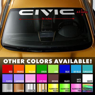 """HONDA CIVIC GEN 4 SI SiR Windshield Banner Premium Vinyl Decal Sticker 36/""""x4/"""""""