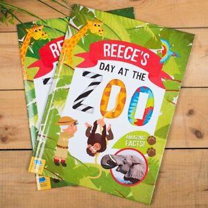 Personnalise-Story-Book-Un-Jour-au-Zoo-Animal-faits-apprentissage-educatif