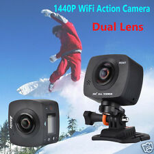 AMKOV AMK200S Dual Lens 360 Degree 8MP 1440P WiFi Action Camera Sport Camcorder