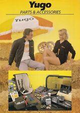 Yugo Accessories 1984-85 UK Market Leaflet Sales Brochure 45 55 311 511 513 413