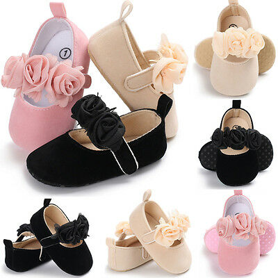 Newborn Baby Infant Girl Fur Crib Shoes Soft Sole Prewalkers Anti-slip Sneakers
