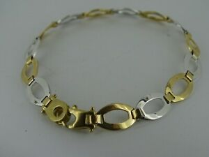 9ct-Yellow-and-White-Gold-Bracelet-Fully-Hallmarked