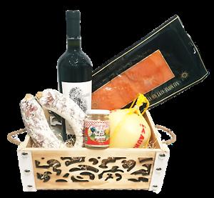 Strenna di Natale SILVER BOX 2 - Cesto Natalizio Gastronomico salumi formaggi