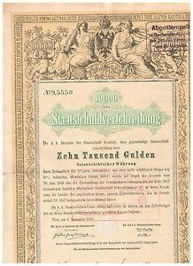 Staatsschuldverschreibung-Osterreich-Wien-1868-10-000-Gulden