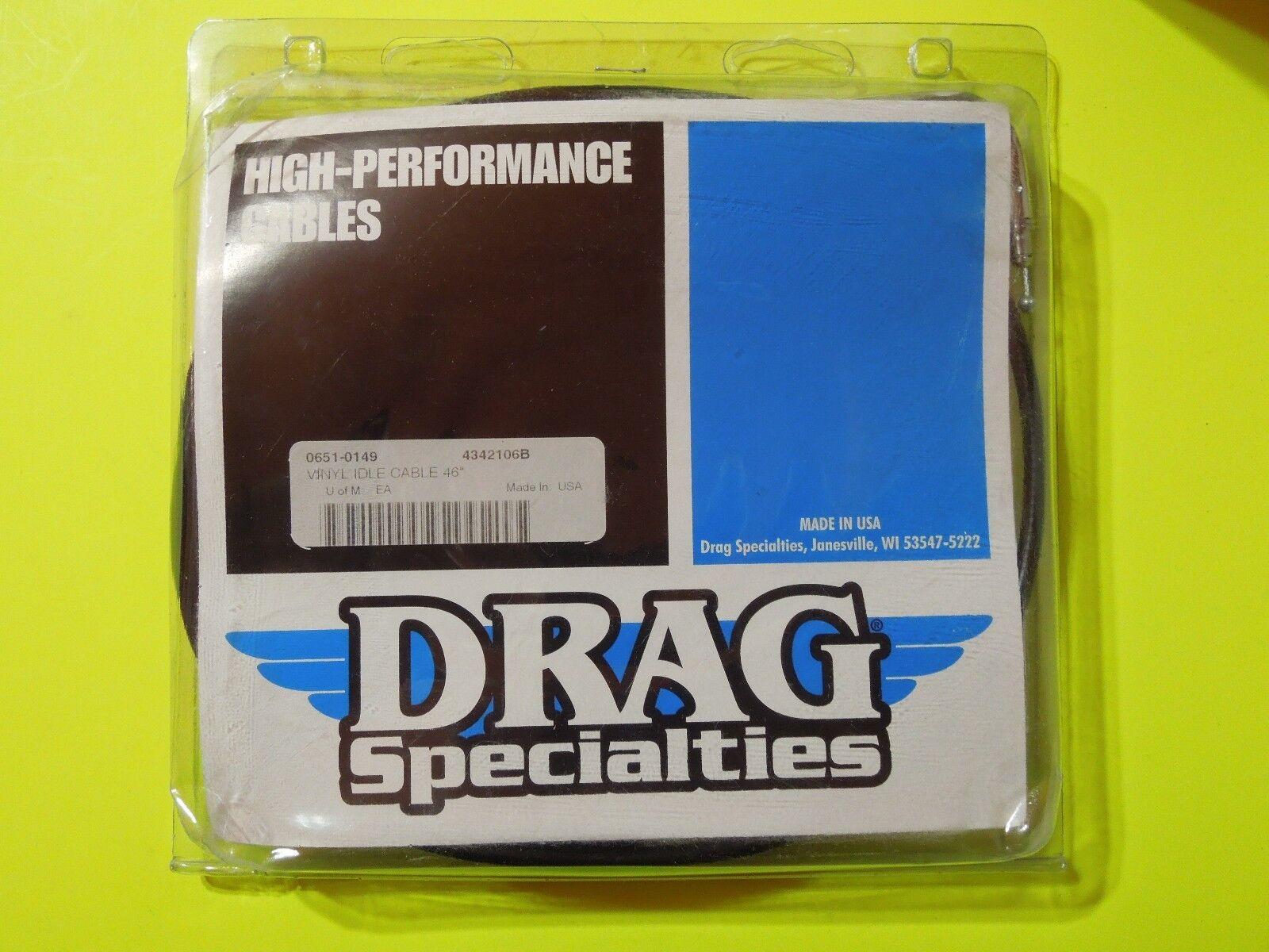 Drag Specialties Alternative Length Black Vinyl Idle Cable 45 1 Wiring Harness 2in 4342106b Ebay