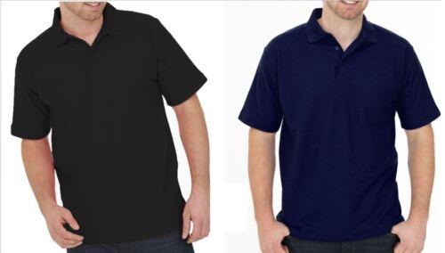 2 x Uneek Mens Ladies Polo Shirt Work Wear Plain Style Unisex Short Sleeves