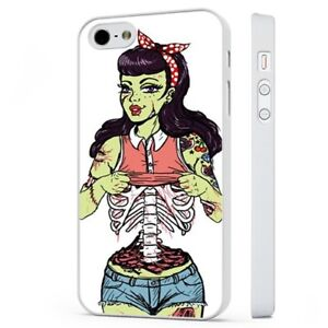 703168d104955 Zombie Pin Up Girl Tattoo Rockabilly WHITE PHONE CASE COVER fits ...