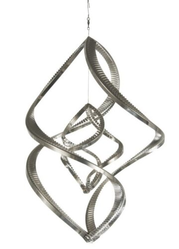 "A8002 steel4you Windspirale /""Double-Twister/"" aus Edelstahl Deko Garten Außen"