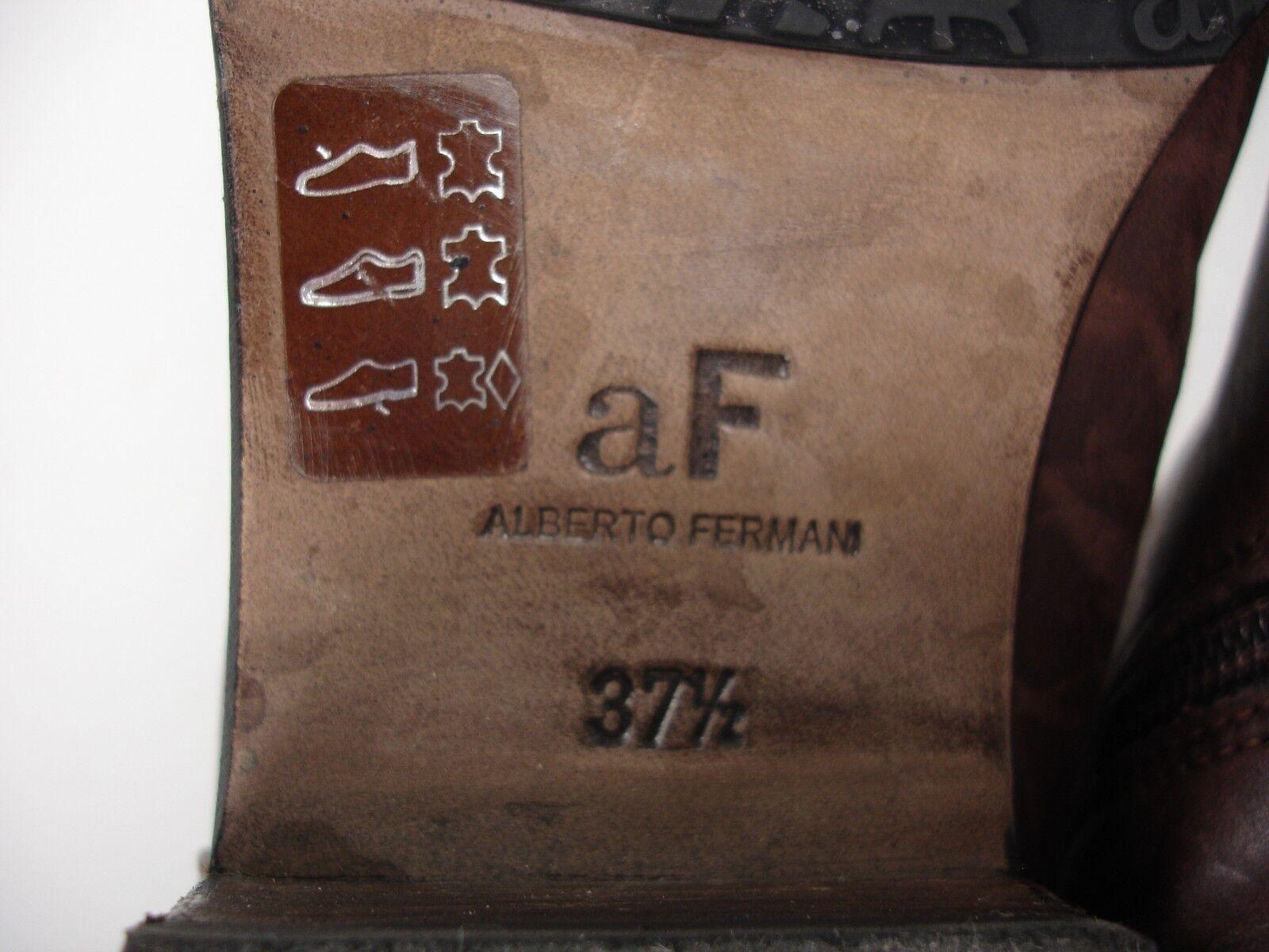 ALBERTO ALBERTO ALBERTO FERMANI marron LEATHER 3 4 SIDE ZIP OVER THE KNEE bottes femmes 37.5 971969