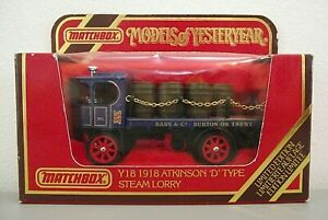 Matchbox Yesteryear Y18 Atkinson Steam Lorry 'BASS' - New & Mint & boxed (MB234)