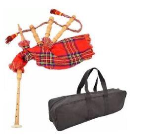 Neu-Junior-Spielbar-Dudelsack-Kinderspielzeug-Royal-Stewart-Tartan-mit-Tasche
