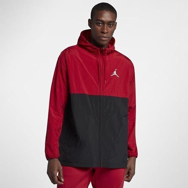 Buy Jordan Jumpman Air Windbreaker Jacket Sz S Small University Red Black  Flight online  7fb68e860
