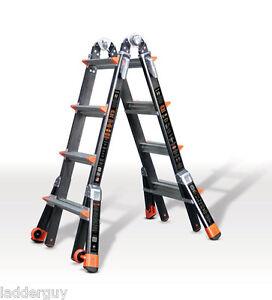 17 1A Fiberglass Little Giant Dark Horse Ladder w/Platform 15147