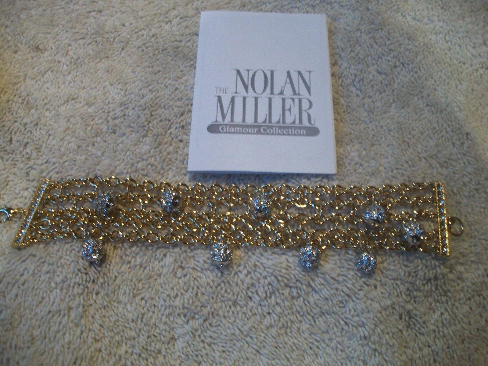 NOLAN MILLER Bracelet Alluring  Multi Chain goldtone with Austrian Crystal Balls