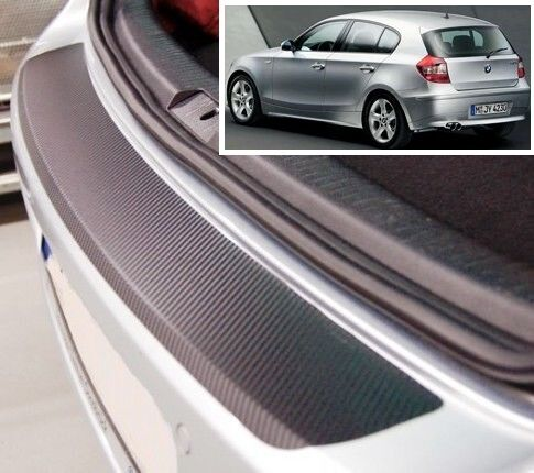 BMW 1 series E87 3//5 door Carbon Style rear Bumper Protector