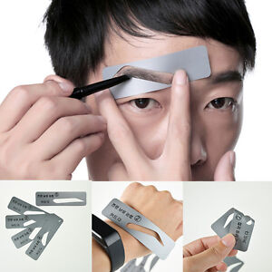 5 Styles Brow Drawing Guide Eyebrow Template Grooming Stencil For