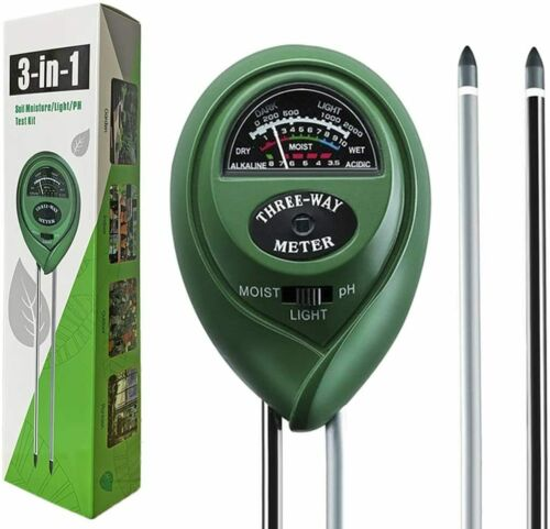 Senua 1 en 3-Sol pH Mètre Plant Soil Tester Kit avec l/'humidité lumière PH test
