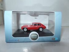 Oxford 76MGBGT001 MGBGT001 1/76 OO Scale MG MGBGT Coupe Tartan Red