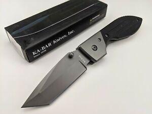Ka-Bar Warthog Tanto Folder Folding Knife 3074 G10 Handle 420 Stainless Blade