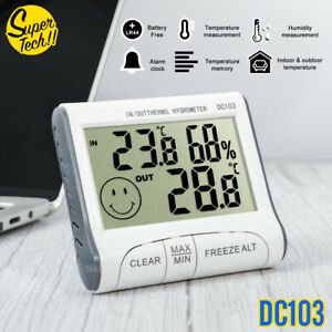 THERMOMETER HYGROMETER DIGITAL OUTDOOR INDOOR TEMPERATURE HUMIDITY METER HOME AU