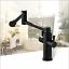 Kitchen-Sink-Swivel-Single-Dual-Handles-Black-Deck-MountMixer-Faucet-Brass-Tap thumbnail 47