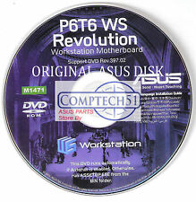 ASUS GENUINE MOTHERBOARD SUPPORT DISK  P6T6 WS Revolution M1471