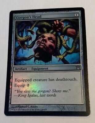 1 FOIL Gorgon/'s Head NM Artifact Born of the Gods Equipment EDH Commander Mtg