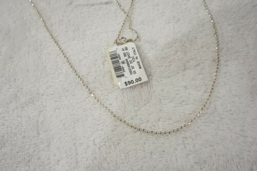 """Giani Bernini Beaded Chain Sterling Silver Necklace 24"""""""