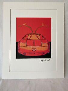 Litografía De Por Andy Warhol Mercedes C111 Rojo Firmada Paño Cmoa