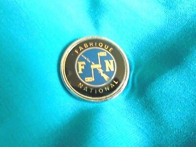 Vintage FN Fabrique National Motorcycle Enamel Badge