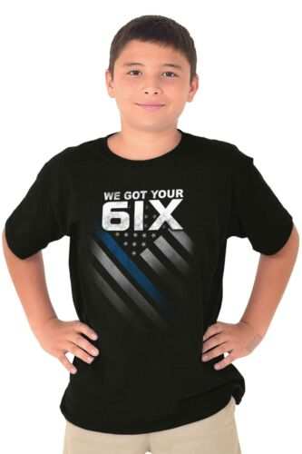 Got Your Six Police Officer USA Blue Lives Matter America Youth Tee Shirt T