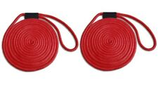"""Double Braid Nylon Dock Line 4-PACK RED USA 1//2/"""" x 25/' UV Coated//Non-Fading"""