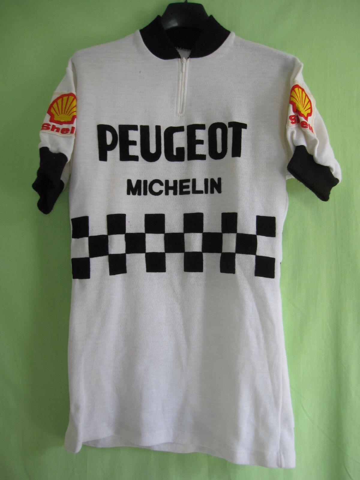 Cycling jersey peugeot cycles shell  acrylic vintage michelin jersey-m  factory outlet
